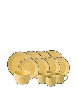 Royal Doulton Colours Yellow 16-Piece Set