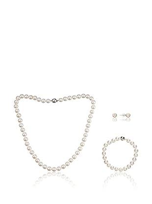 United Pearl Conjunto de cadena, colgante y pendientes  Nácar