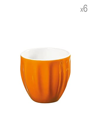 Guzzini Set 6 Bicchierini Caffè Aqua Arancio