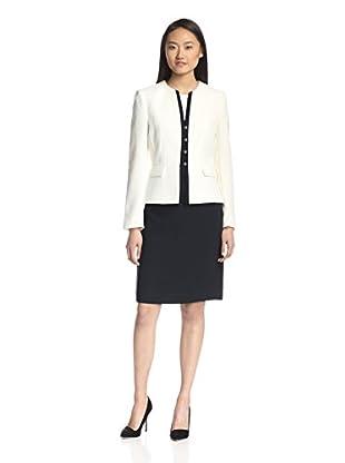 Tahari by ASL Women's Crepe Skirt Suit