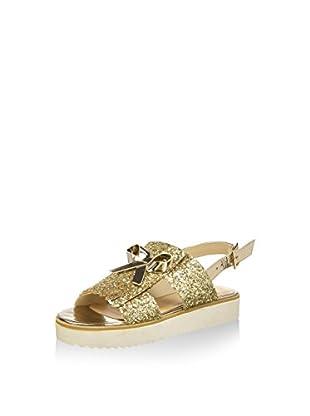 Bata 5698390 Sandali con cinturino alla caviglia, Donna, Oro, 40