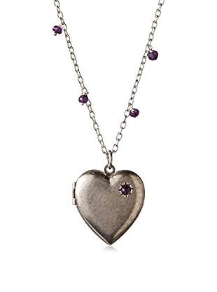 Alisa Michelle Heart Locket with Amethyst Stone
