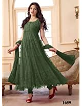 VandV Latest Dark Green Designer Anarkali Suit