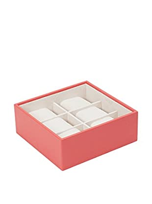 WOLF 6-Watch Stackable Tray, Coral