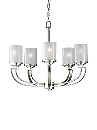 Feiss 5-Light Finley, Polished Nickel