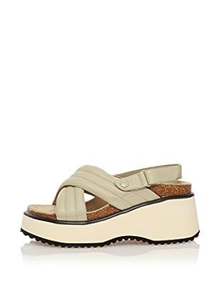 BEEFLY Keil Sandalette Plume