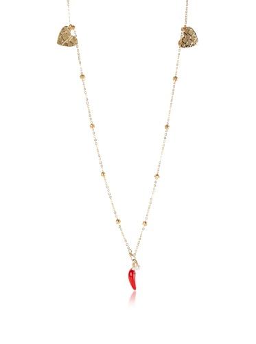 Mercedes Salazar Multi-Heart Charm Necklace, Gold