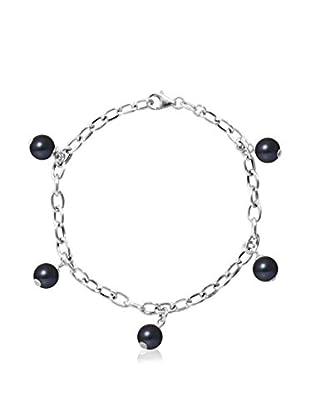 MITZUKO Bracelet Bracelet Real Cultured Freshwater Pearls Round 7 - 8 Mm - Colour Black