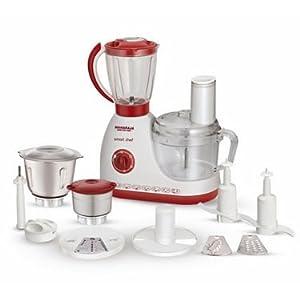 Maharaja Whiteline SmartChef Food Processor - White & Red
