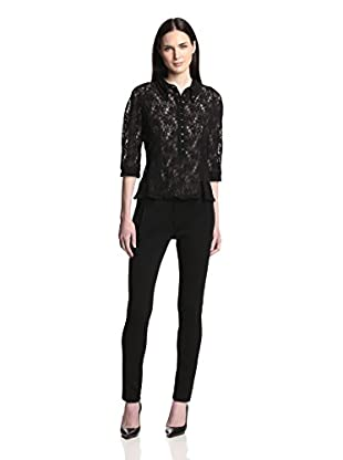 Nina Ricci Women's Lace Polo Shirt (Noir)