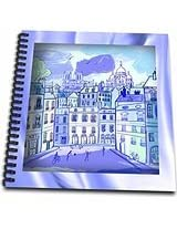 3dRose db_110930_1 Paris in Watercolors Drawing Book, 8 by 8-Inch