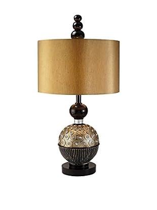 ORE International Amber Twilight 1-Light Table Lamp, Espresso