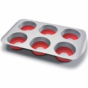 bake and pop マフィン型7cm レッド POP005-RED