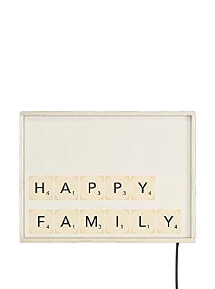 LITTLE NICE THINGS Panel Decorativo Luminoso LED Happy Family