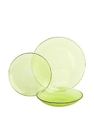 Molecuisine Geschirr 12 tlg. Set Scratch grün