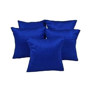 5 Pcs Mesleep Deep Blue Velvet Cushion Cover 12x12 Inch