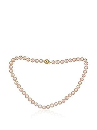 United Pearl Kette  babyrosa/gelbgold