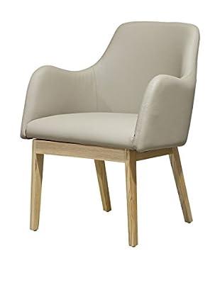 International Designs USA Barrel Dining Chair, Cream