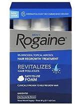 Men's Rogaine Foam-Rogaine Hair Regrowth Treatment 9/2.11 oz. cans (9 Month Supply)