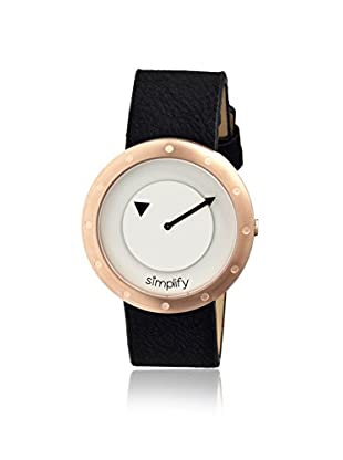 Simplify Women's 2207 The 2200 Black & White Leather Watch