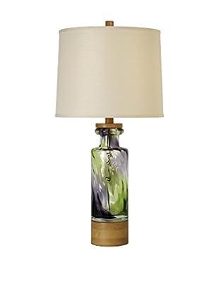 Trend Lighting Habitat Table Lamp, Green/Eggplant