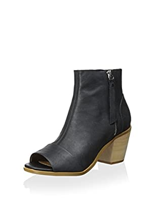 Kelsi Dagger Women's Kourtney Open Toe Bootie (Black)