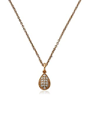 Riccova Retro CZ Pavé Drop Pendant Layering Necklace, Rose Gold