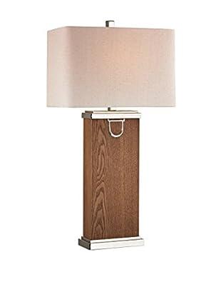 Artistic Lighting Table Lamp, Dark Walnut/Polished Nickle/Chrome
