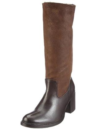 Buffalo London 1002 W 04 COW MONTONE 121930 - Botas de cuero para mujer (Marrón)