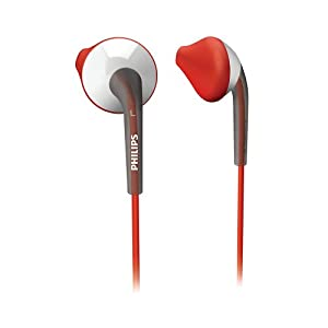 Philips SHQ1000/98 Earbud Actionfit Sports Headphone (Red)