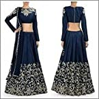 FabPandora Fancy Bollywood Designer Prachi Desai Blue Lehenga