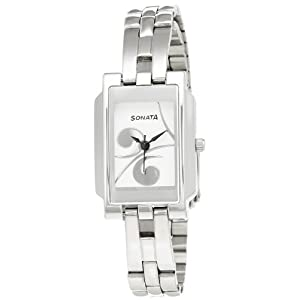 Sonata Eva Analog White Dial Women's Watch - 8983SM01