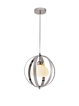 Bel Air Lighting Harlequin Ball Pendant Light, Polished Chrome