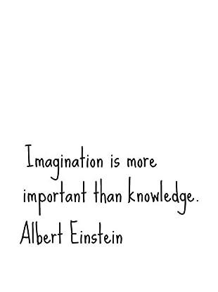 Ambiance Live Wandtattoo Albert Einstein Imagination schwarz