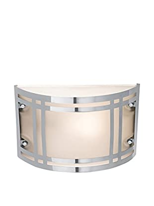 Access Lighting Poseidon 1-Light Bulkhead With Frosted Glass Shade, Stainless Steel