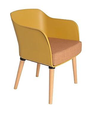 TOPAMBIENTES Sessel 2er Set senf