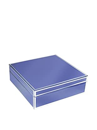American Atelier Square Jewelry Box with Piping, Eggplant