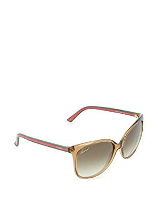 Gucci Sonnenbrille 3649/S CC 170 (56 mm) beige/rot DE 56-17-140 (56-17-140)