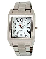Exotica Analog White Dial Men's Watch (EXD-65-W)