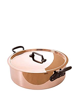 Mauviel M'heritage Copper 3.2-Qt. Covered Rondeau with Cast Iron Handle