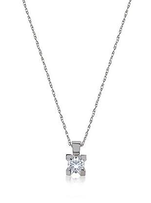 Divas Diamond Collar Gold Solitaire Diamond Plateado