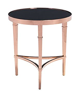 Zuo Modern Elite Side Table, Rose Gold/Black