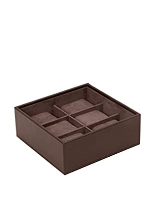 WOLF 6-Watch Stackable Tray, Brown