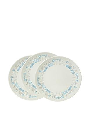 Set of 3 1960s Blue Heaven Plates
