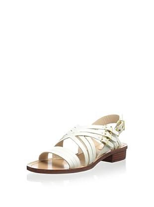 Pour La Victoire Women's Alfie Flat Sandal (Off white)