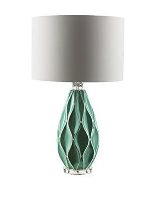 Surya Bethany Table Lamp, Teal