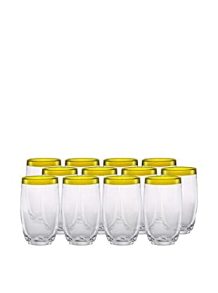 Artland Festival Set of 12 Highball Glasses, Sunflower