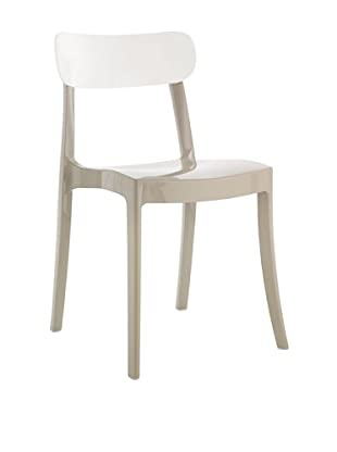Domitalia New Retro Chair, Taupe/White