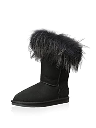 AUStralia Luxe Collective Womens Foxy Short Short Fur Trimmed Boot (Black)