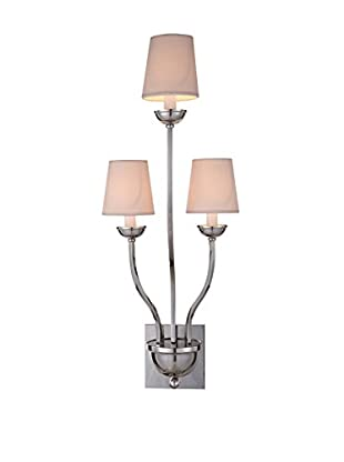 Urban Lights Vineland 3-Light Wall Lamp, Polished Nickel